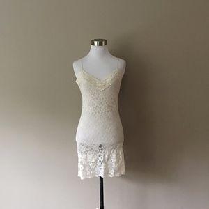 Medium Lace Dress Cream Wet Seal